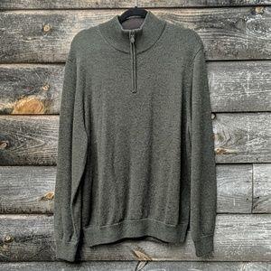Brooks Brothers Extra Fine Merino Wool Quarter Zip